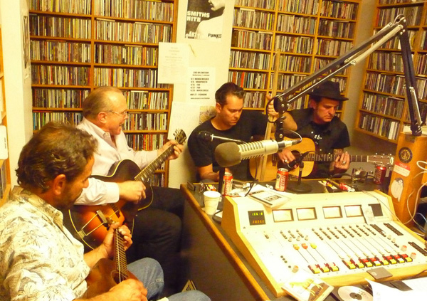 Javier and Chopper with Phil Alvin and Gary Massi